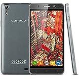 Landvo XM100 3G-Smartphone 5,0'' Zoll IPS Screen Simlockfrei MT6580 Quad Core 1.3GHz MT6580 Dual SIM 1G+8G Dual Kameras Handy ohne Vertrag Smart Wake GPS WIFI Bluetooth Grau