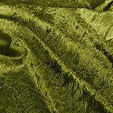 TOLKO Dekostoff - Pannesamt Meterware mit Stretch zum Nähen, Basteln und Dekorieren (Antik-Grün)