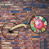 QBDS LOFT Vintage Bicycle Decorative Frame Clocks Salotto Bar Internet Cafe Ferro Industrial Wind Wall Cornice decorativa L81 * H51cm ciondolo decorativo ( Colore : B )