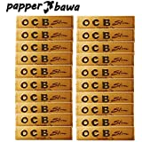 Papper Bawa Gold OCB King Size Rolling Paper Pack Of 20 Booklet In The Box (640 Leaves) Assorted Hookah Flavor