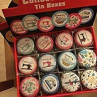 royllent 12Mini rotondo scatola porta gioielli, Candy Box piccole scatole lattine Coin orecchini, Cuffie pillola scatola regalo custodia