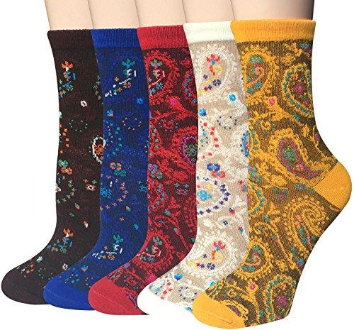 Chalier 5 Paar Damen Baumwolle Socken mit Lustiger Tiere Malerei Kurz Lässige Mädchen Socken MEHRWEG (Malerei Tiere)