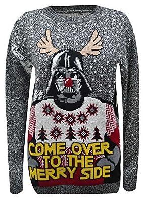 FB-fb-hommes Pull De Noël, Star wars Unisexe Darth Vader Yoda De père noël Tricot