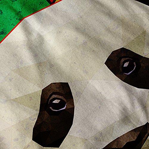 Geometrisch Kunst Panda Komisch Kumpel Bär Damen Schwarz S-2XL Muskelshirt | Wellcoda Schwarz