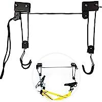 EXLECO Support velo Plafond Max.57 kg Ascenseur de Vélo Universel avec Crochet et Range à Corde Adapté aux Vélos et…