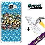 BeCool® Fun - Coque Etui Housse en GEL Flex Silicone TPU Samsung Galaxy A5 2016 [ +1 Protecteur Verre Trempé ] , protège et s'adapte a la perfection a ton Smartphone et avec notre design exclusif. J'aime l'été
