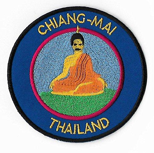 Karma Patch Chiang Mai Thailand Patch Buddha bestickt Eisen/Nähen auf Badge (8,9cm) Trek Asien Aufnäher Emblem Souvenir ()