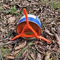 Anself Foldable Gas Tank Stand Outdoor Camping Hiking Cooking Stove Gas Cartridge Canister Tripod Footrest