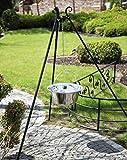 INOX-Kessel Nortpol Farmcook 14 L mit Dreibein Gulaschkessel mit Deckel, aus Edelstahl inkl. dem Dreibein