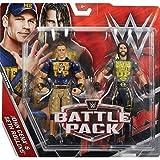 WWE Kampf Pack: Serie 43.5 Actionfigur - Seth Rollins 'Never Zuschlagen Up' Shirt & John Cena 'Never Aufgibt' T-Shirt