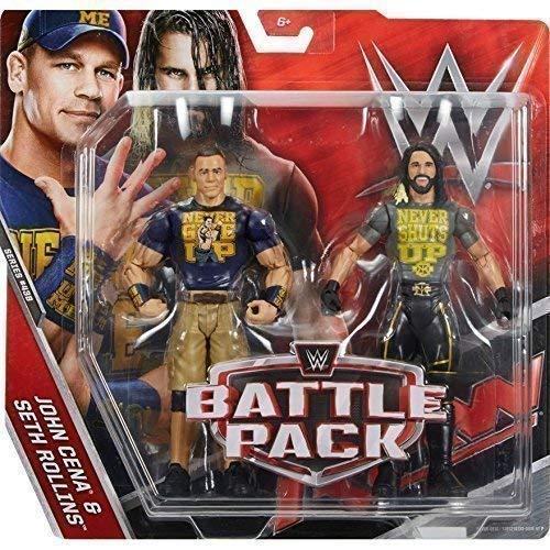 WWE Pack De Lucha Serie 43.5 Figura De Acción - Seth Rollins 'Never Cierres Up' Camisa & John Cena 'Never Proporciona Up' Camiseta