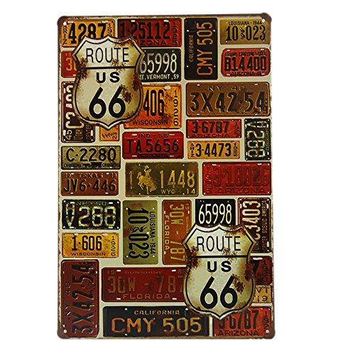 t-ray Vintage Antik Blechschild Retro Metall Malerei Tisch Decor für Bar Club Shop Cafe Home Wand-Dekoration zum Aufhängen