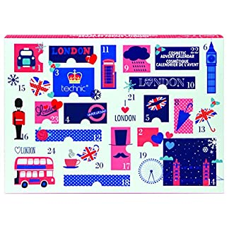 Technic – Calendario de adviento de Londres con 24productos cosméticos