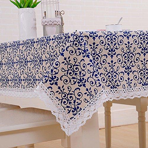 Aus stoff Einfache Tischtuch,Längliche tischdecke Roundtable] Küchentisch tuch-H 100x150cm(39x59inch) -