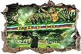 Rapid kämpfen und siegen, 3D Wandsticker Format: 92x62cm, Wanddekoration