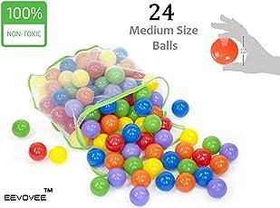 EEVOVEE Plastic Pool Ball, Medium (Multicolour) - Set of 24