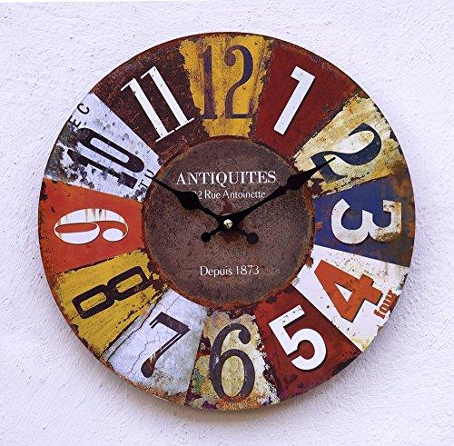 Uhr Wanduhr bunt Vintage WU (Antik-uhren Für Männer)