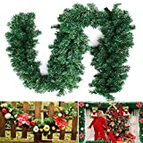 2.7M Tannengirlande Weihnachtsgirlande Weihnachtsdeko Efeugirlande künstliche Weihnachten Girlande Dekorieren Tannen Grün Natur 2.7M (1 STK)
