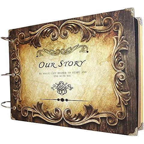 Regalos de los álbumes FOME álbum de fotos del álbum Aniversario del libro de recuerdos de DIY la foto del estilo de grabación de la vendimia del día de tarjetas de Navidad del regalo del anillo interior Nuestra
