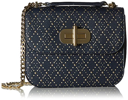 Tommy Hilfiger Damen Turn Lock Crossover Argyle Studs Umhängetasche, Blau (Tommy Navy), 2,5x25x16 cm (Cross-body-stud)