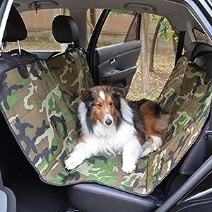 Armée verte de camouflage voiture pour animaux Pad, Voyage voiture Seat Cover Pet Pad-assemblage et démontage rapide de voiture Pet Pad voiture anti-usure des garnitures glissement étanche résistant Pet voiture 600D Military Green