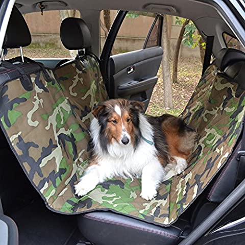 Car Pet Pad, Hansemay Oxford Cloth Camouflage Dog Car Seat Cover avec imperméable / antidérapant Antifouling pour chat Pet (Army Green)
