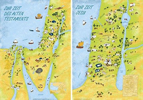 Wandkarten Altes Testament - Neues Testament: Das Heilige Land zur Zeit des AT und NT
