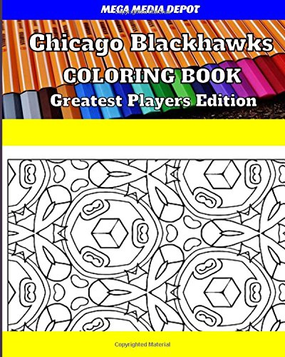 Chicago Blackhawks Coloring Book Greatest Players Edition por Mega Media Depot