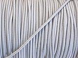 5 m elastische Kordel /Gummikordel hellgrau 2,5 mm