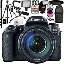 Canon Eos 77D DSLR Camera With 18-135mm Lens 17PC Accessory Bundle Includes 32GB SD Memory Card + More - International Version (No Warranty)