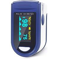 JUMPER Finger Pulsossimetro 500C Meter Pulse Portable - SpO2 (Saturazione di Ossigeno nel Sangue) e Monitor di Frequenza…