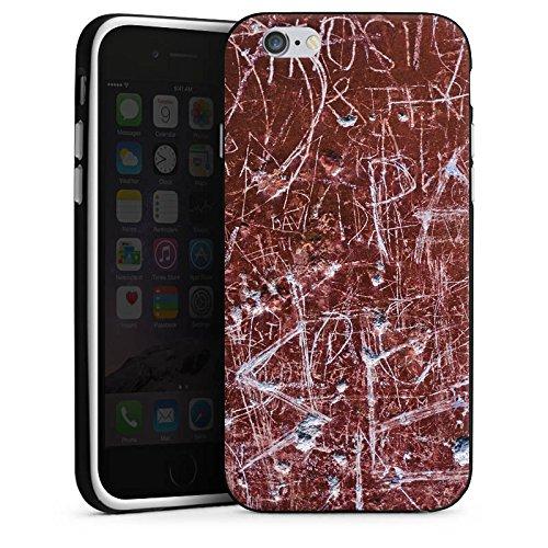 Apple iPhone X Silikon Hülle Case Schutzhülle Rost Kratzer Muster Silikon Case schwarz / weiß