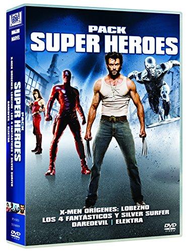 Pack Super Heroes: X-Men Orígenes: Lobezno + Los 4 Fantásticos Y Silver Surfer + Daredevil + Elektra [DVD]