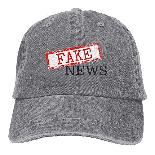 Fake News Sport Fashion Adjustable Denim Hat/Trucker Hat