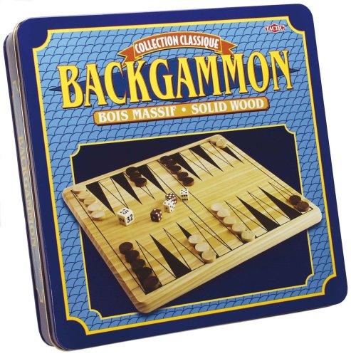Unbekannt Backgammon Stücke und Board-Holz (Holz-backgammon-board)