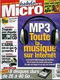 Micro hebdo - n°95 - 10/02/2000 - MP3 : Toute la musique sur internet...