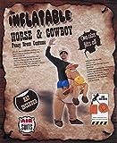 AirSuits Aufblasbares Kostüm Pferd und Cowboy Fasching Karneval -