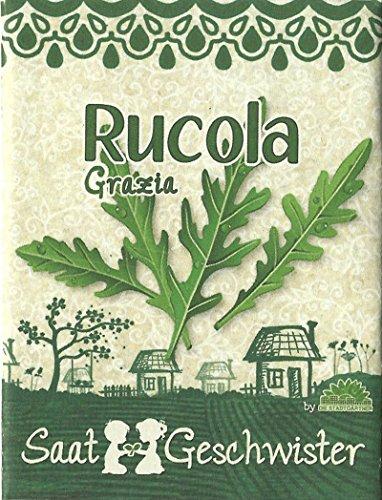 """Die Stadtgärtner Rucola""""Grazia""""-Saatgut   anregender, pfeffrig-bitterer Geschmack   Samen für 40 Pflanzen"""