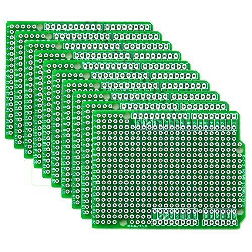 Electronics-Salon 10x Prototype PCB for Arduino UNO R3 Shield Board DIY. by CZH-LABS
