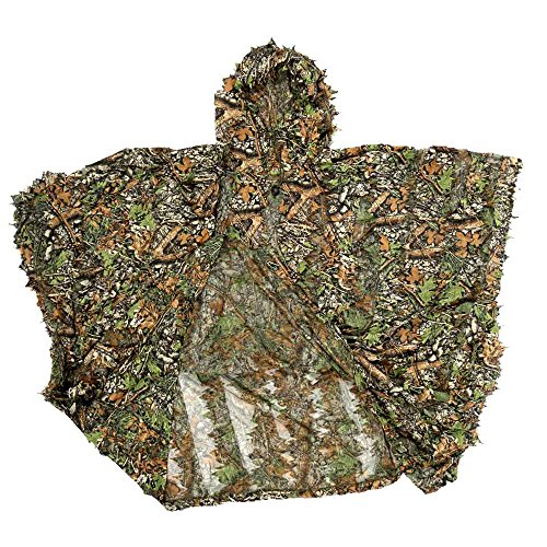 Lixada Ghillie Grüner Poncho Jagd Camo Camouflage Solid Mesh 3D Mesh-poncho