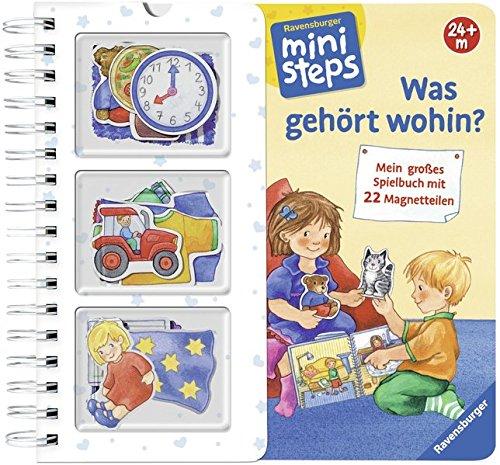 Was gehört wohin?: Mein großes Spielbuch mit 22 Magnetteilen. Ab 24 Monaten (ministeps Bücher) (Spielen Küche Baby)