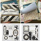 40fogli di carta vintage cuscino 20,3x 20,3cm classico origami fiori modello scrapbooking Wrapping libro fai da te di cartoline portafoto album creativo mano decorativo die tagli sfondo