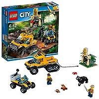 Difendi la missione ed evita le inaspettate sorprese nella giungla!Esplora la misteriosa giungla di LEGO® City nella Missione con il semicingolato, dotato di ruote posteriori cingolate, compartimento per la catena e le attrezzature, fuoristrada con c...