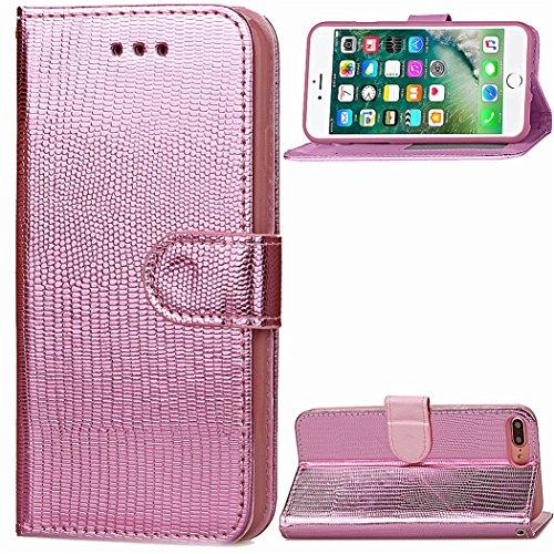 Voguecase Pour Apple iPhone 7 4,7 Coque, Étui en cuir synthétique chic avec fonction support pratique pour iPhone 7 4,7 (ZG-Rose)de Gratuit stylet l'écran aléatoire universelle ZG-Pink