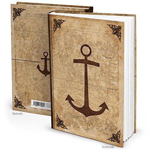 Leeres Blanko Notizbuch Tagebuch antik auf Alt gemacht ANKER vintage Nostalgie DIN A4 136 leere...