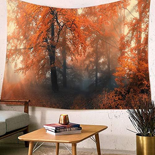 nnenuntergang Orange Gelb Wald Herbst Tapisserie Wandbehang Stoff Tapisserien Baum Schlafzimmer Wohnkultur Kunst Kopfteil Hintergrund ()