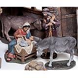 Belén Delprado J.L.Mayo Misterio Grupo de 5 figuras La Virgen Maria, San José, El Buey, la Mula y El Niño Jesús BEL901