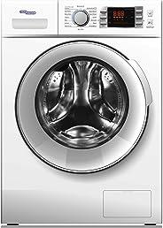 Super General 8 kg Front-Loader Washing Machine SGW 8400CRM/1400 RPM/LED Display/Energy-efficient/White/16 Programs/ESMA 5 S
