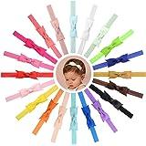 Bébé Filles Bandeau Cheveux Arcs Strié Ceinture Stretch Bowknot pour Les Tout-Petits 20pcs