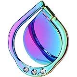 lenoup Bague de support pour téléphone portable avec paillettes arc-en-ciel - Rotation à 360 ° - Pour presque tous les téléph